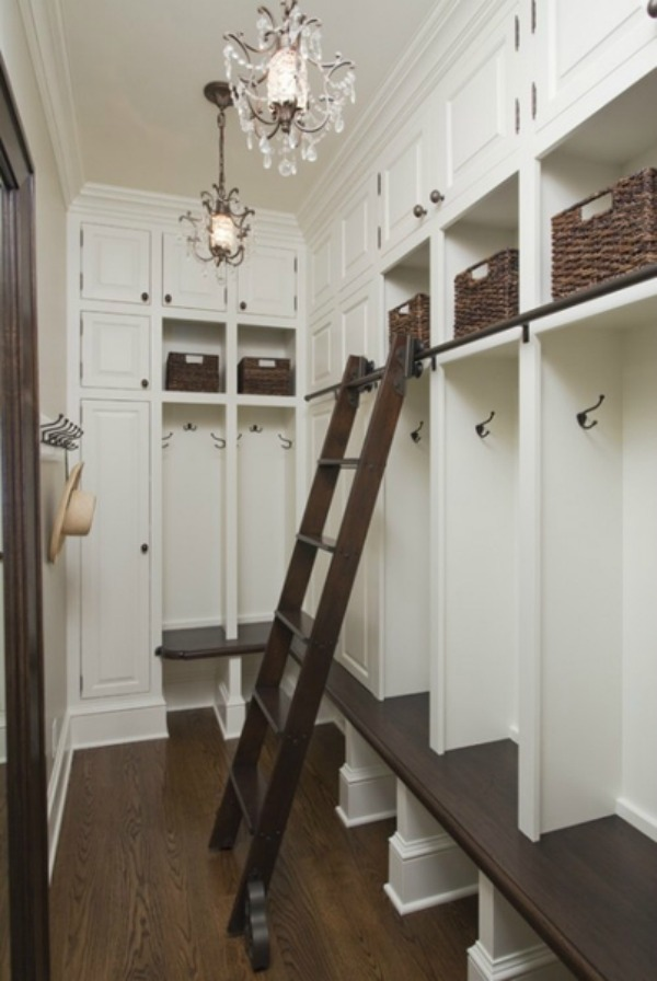 via Pinterest, Farmhouse Mudrooms via House of Hargrove