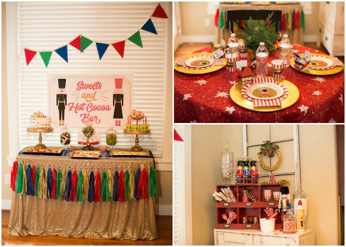 Nutcracker Party, Christmas Tablescapes / Party Ideas via House of Hargrove