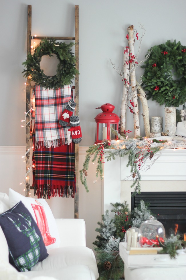 By the Fireplace, Christmas Inspiration via House of Hargrove