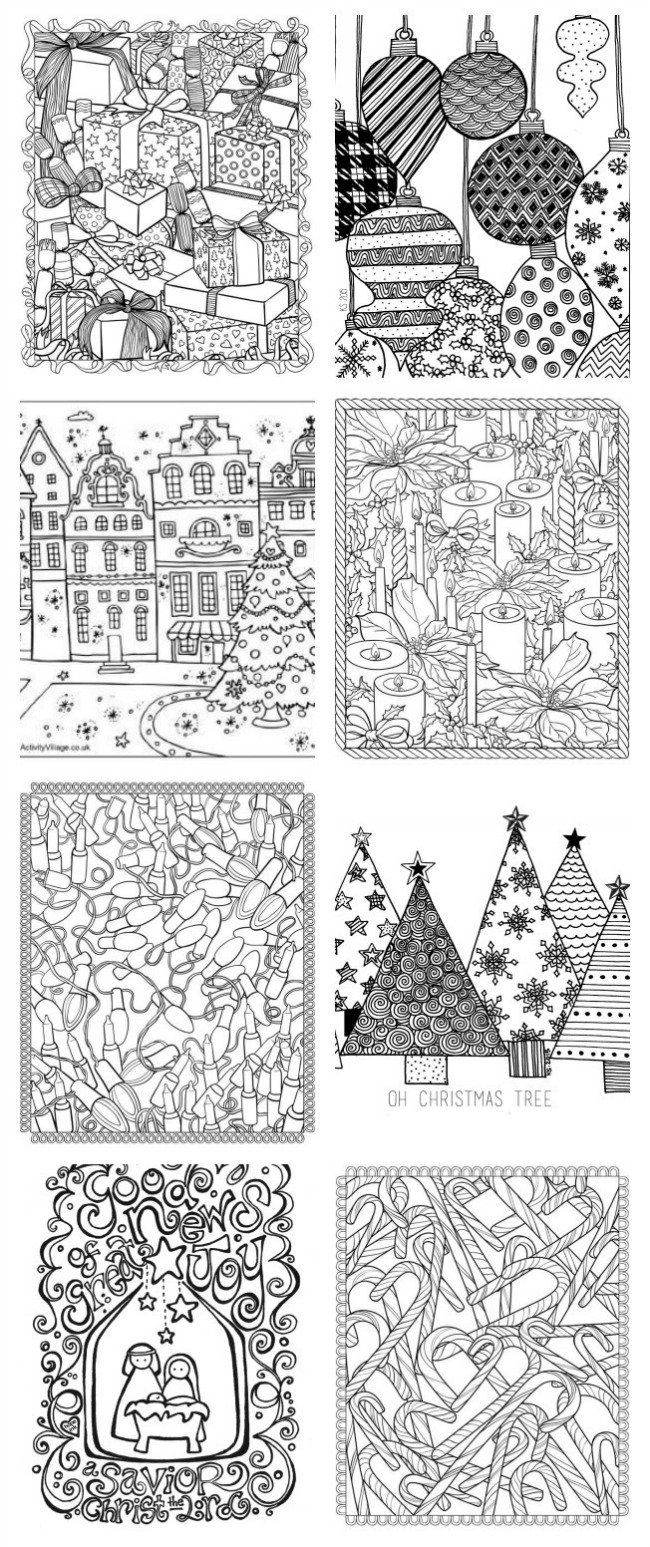 Christmas Coloring Pages, Christmas Printables via House of Hargrove