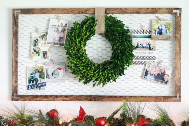 Christmas Holiday Card Display, Christmas Inspiration via House of Hargrove