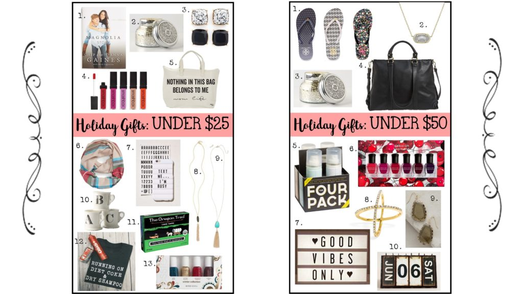 Christmas gifts- Under $25, Under $50