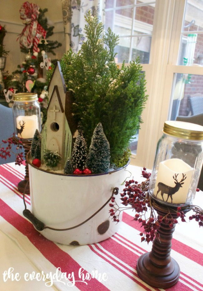 Church in the Woods Christmas Centerpiece, Christmas Inspiration via House of Hargrove