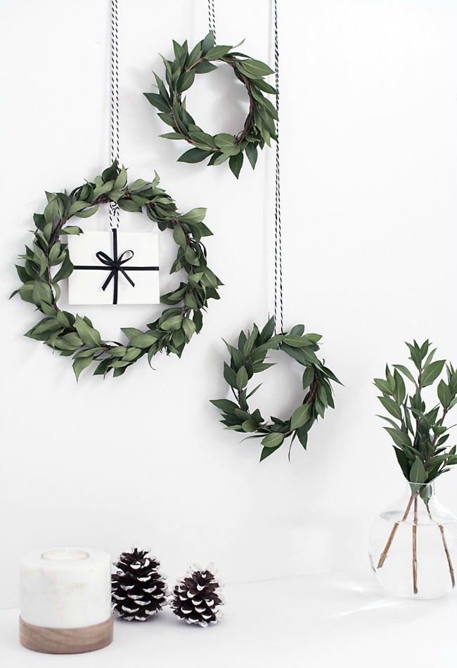 DIY Gift Card Mini Wreaths, Christmas Inspiration via House of Hargrove
