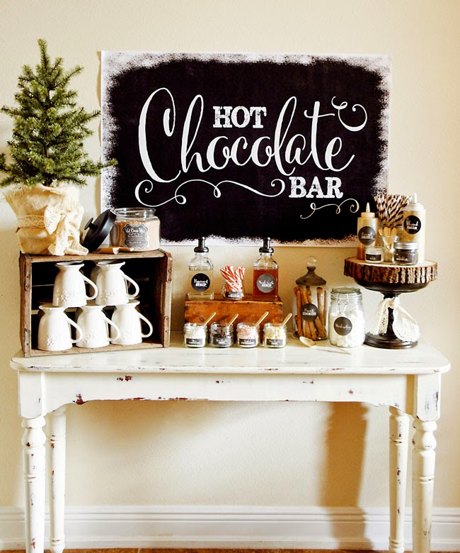 DIY Hot Chocolate Bar, Christmas Inspiration via House of Hargrove