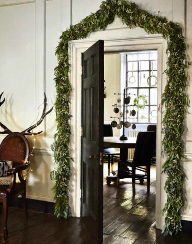 Evergreen Garland, Christmas Inspiration via House of Hargrove