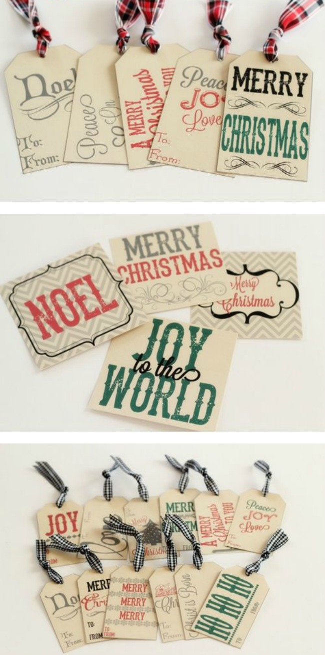 Gift Tag Printables, Christmas Printables via House of Hargrove
