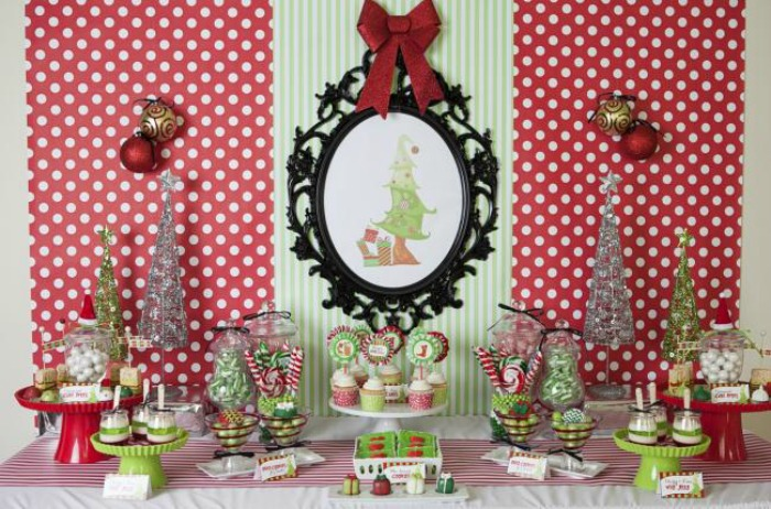 Grinch Inspired Christmas Party, Christmas Tablescapes / Party Ideas via House of Hargrove
