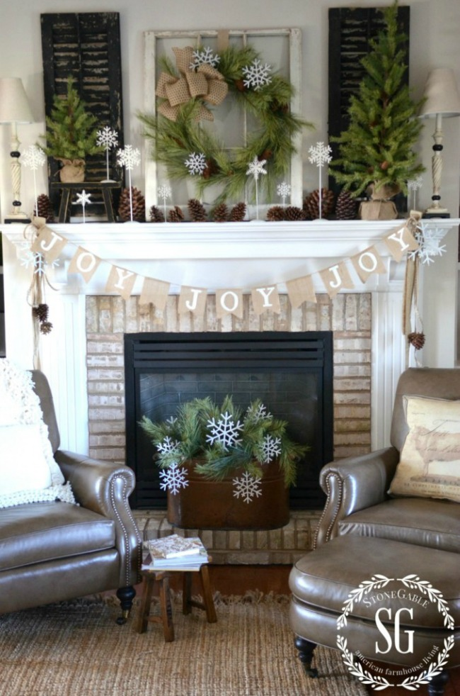Joy Mantel, Christmas Inspiration via House of Hargrove