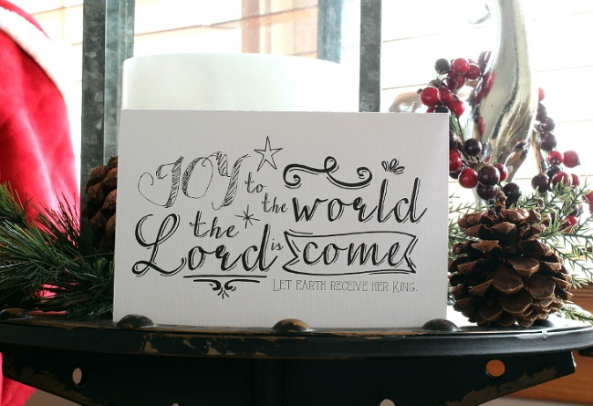 Joy to the World, Christmas Printables via House of Hargrove