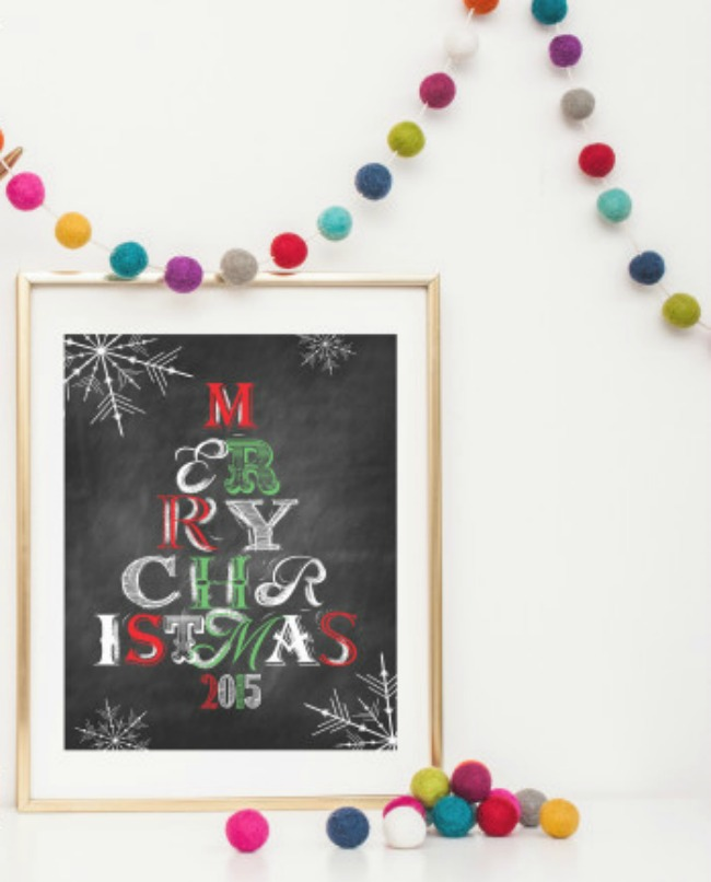Merry Christmas 2016, Christmas Printables via House of Hargrove