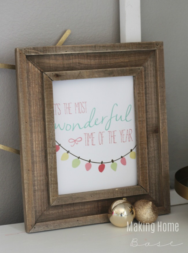 Most Wonderful Time of the Year, Christmas Printables via House of Hargrove