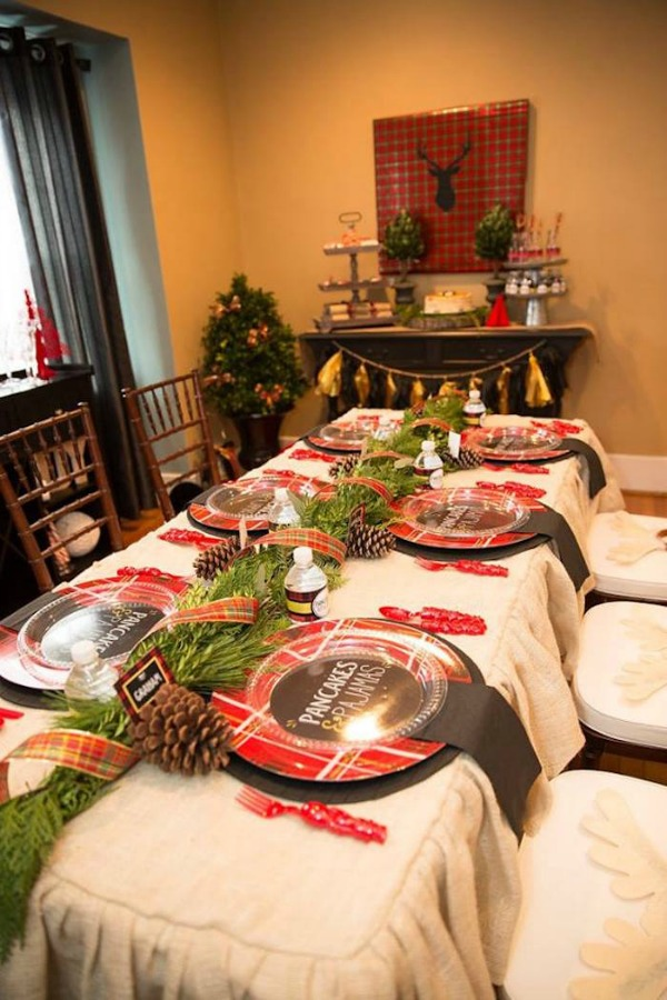 Pancakes and Pajamas Holiday Party, Christmas Tablescapes / Party Ideas