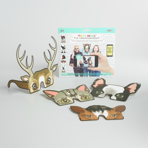 Party Animal App and Glasses, White Elephant Gift Exchange via House of Hargrove
