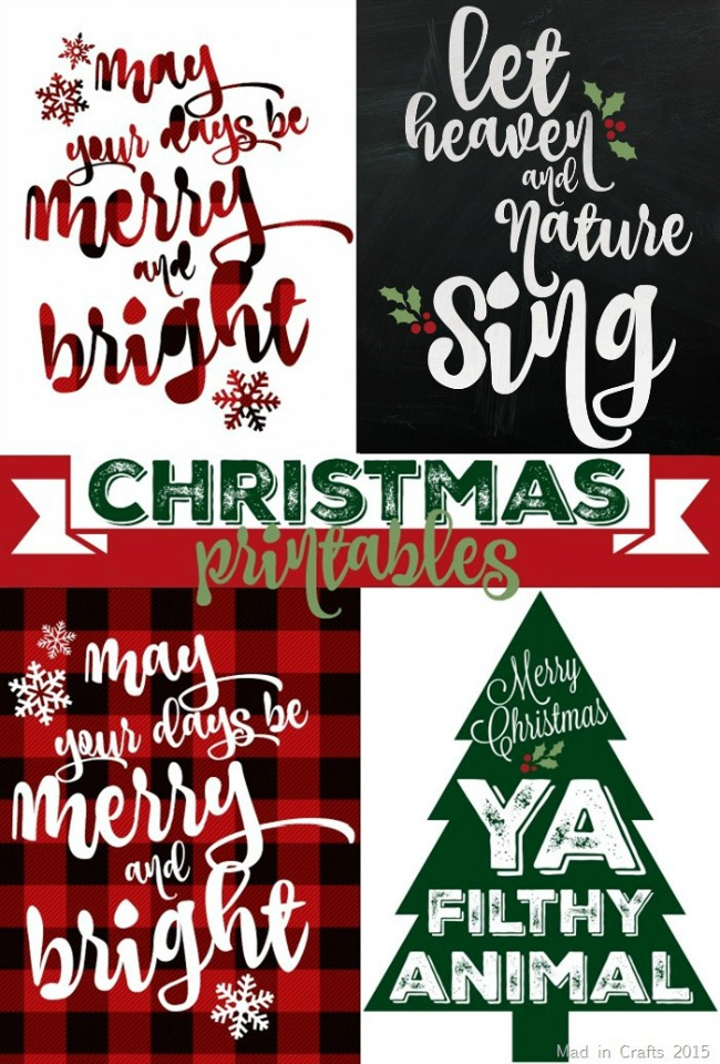 Plaid Christmas Printables, Christmas Printables via House of Hargrove