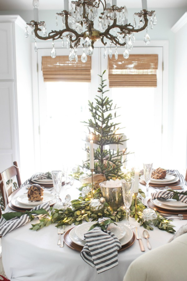 Shades of Blue Interiors, Christmas Tablescapes / Party Ideas via House of Hargrove