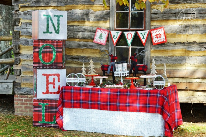 Sweater Weather Cookie Exchange, Christmas Tablescapes / Party Ideas