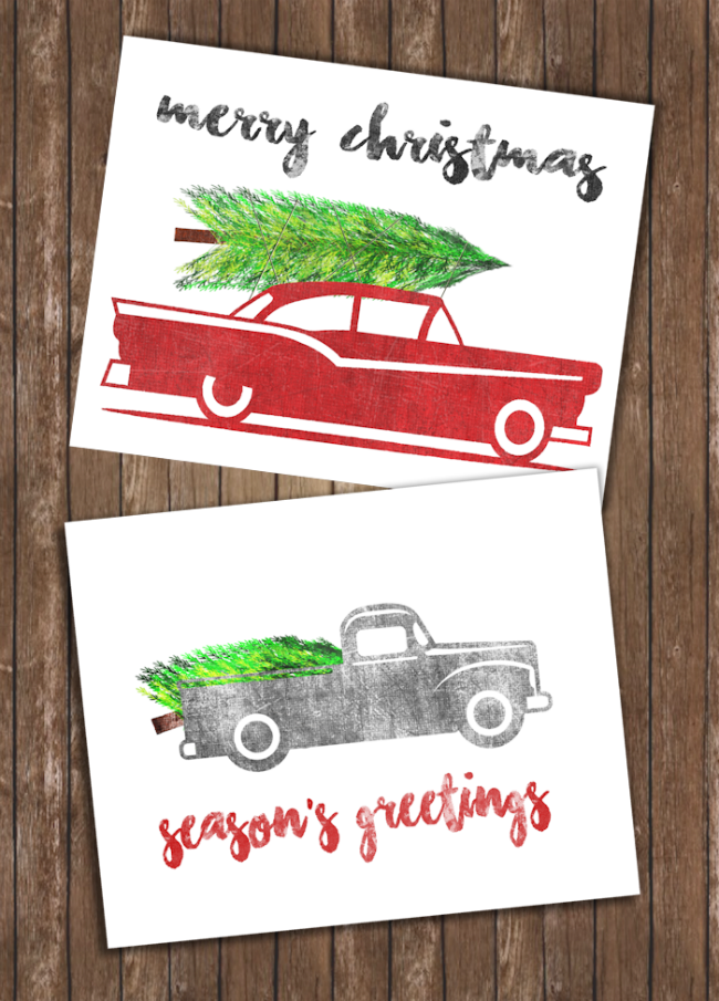 Vintage Christmas Prints, Christmas Printables via House of Hargrove