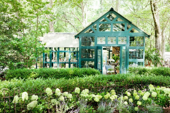 Erica George Dines via Country Living, She Sheds via House of Hargrove