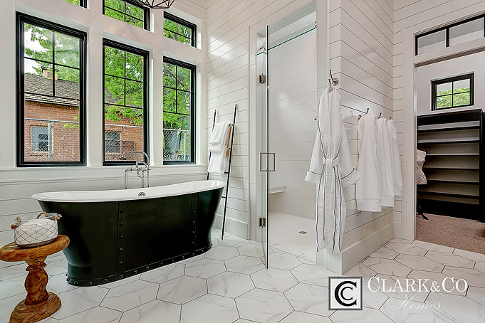 Attractive Guest Bathroom. You Can See A Teeny Tiny Peek At The Beautiful Tile!
