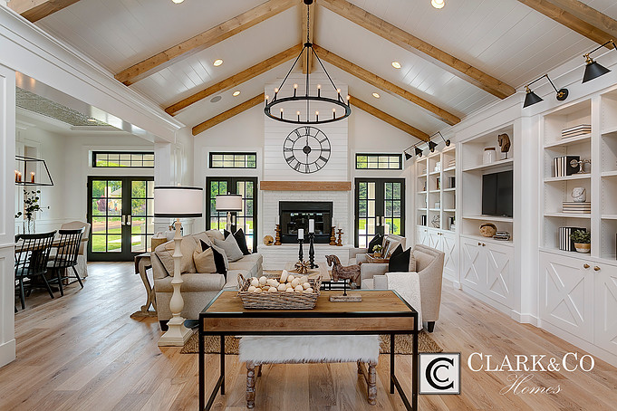The French Doors, Transom Windows, Library Lighting, Built Ins, Paneled  Ceilings, White Walls With Black Door And Window Trim, The X Design On The  ...