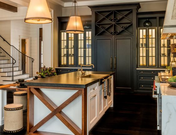 Modern farmhouse kitchens house of hargrove for Modern kitchen in traditional house