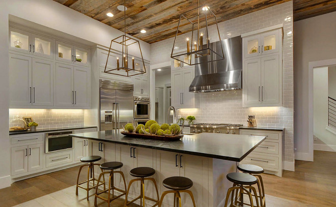 Modern farmhouse kitchens house of hargrove for Farm style kitchen decor
