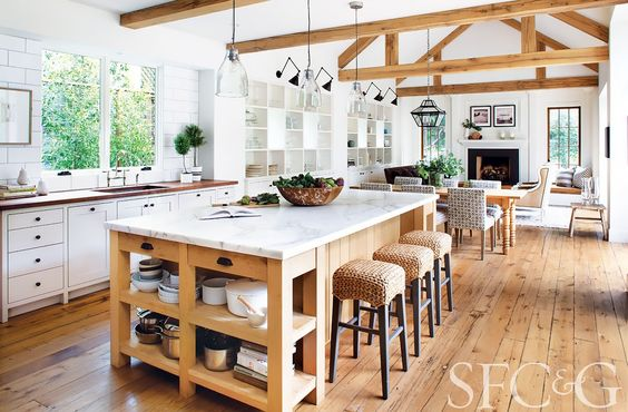 san francisco cottages gardens - Modern Farmhouse Kitchen