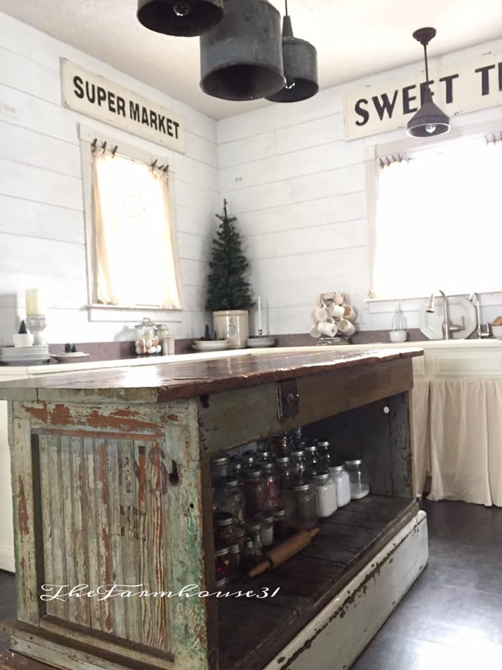 Vintage Farmhouse Kitchen Islands Antique Bakery Counter for Sale House of