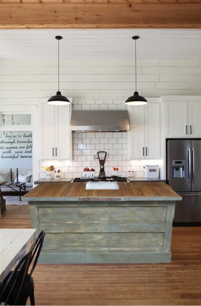 if you want this incredible statement piece in your own home email me at houseofhargrovegmailcom and i can give you all of the details - Farmhouse Kitchen Island