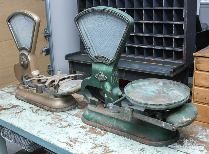 Decorating with vintage scales for sale house of hargrove