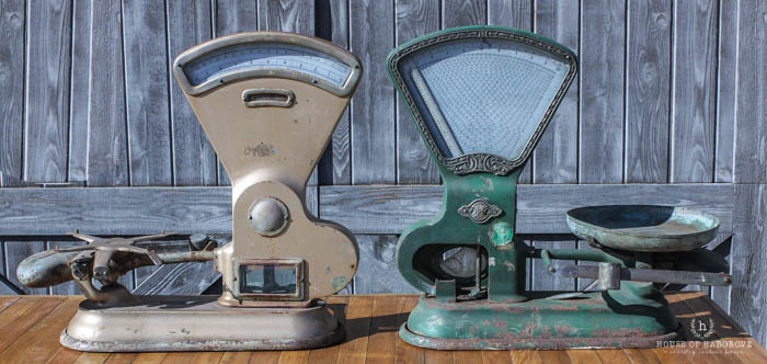 Decorating with Vintage Scales-2 for SALE