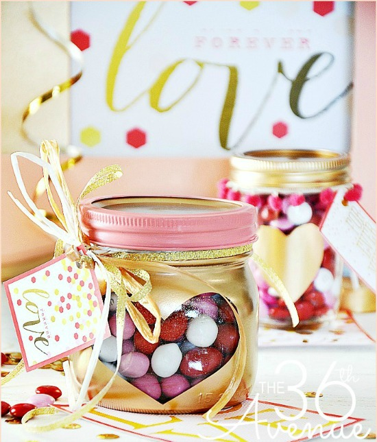 Valentines Day Gift Heart Jars by 36th avenue, 40 Valentines Day Ideas via House of Hargrove