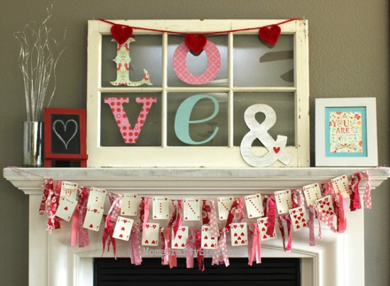 Happiness is Homemade Heart Cards Garland, 40 Valentines Day Ideas via House of Hargrove
