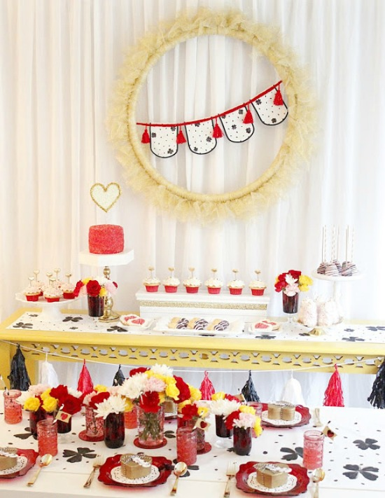 A Lovely Design Valentine making Party, 40 Valentines Day Ideas via House of Hargrove