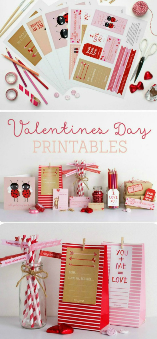 In the Playroom Valentine Printables, 40 Valentines Day Ideas via House of Hargrove