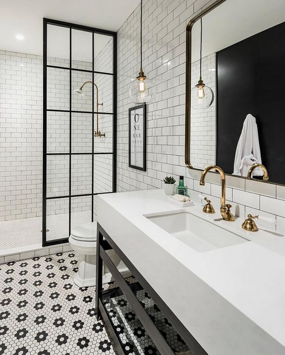 Modern Farmhouse Bathrooms - House of Hargrove on Modern Farmhouse Shower  id=23130