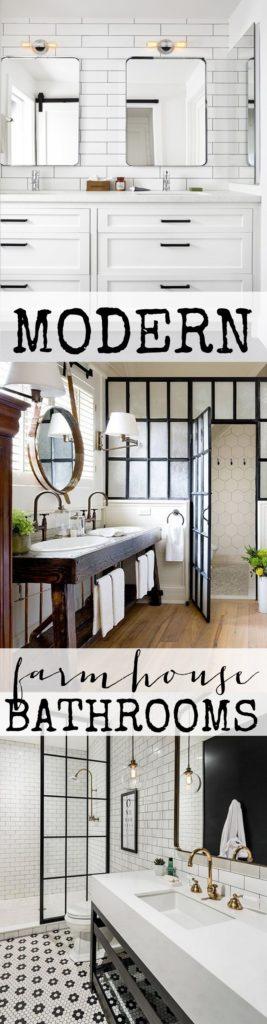 Pin This Photo For Modern Farmhouse Bathroom Inspiration
