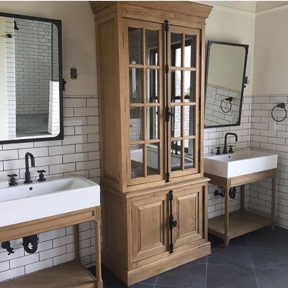 Modern farmhouse bathrooms house of hargrove for Bathroom ideas farmhouse
