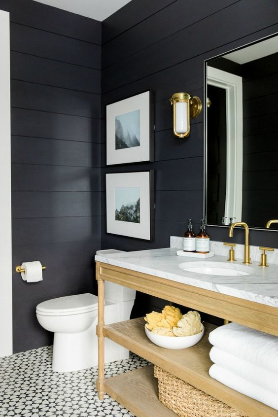 Modern Farmhouse Bathrooms - House of Hargrove on Modern Farmhouse Shower  id=49618