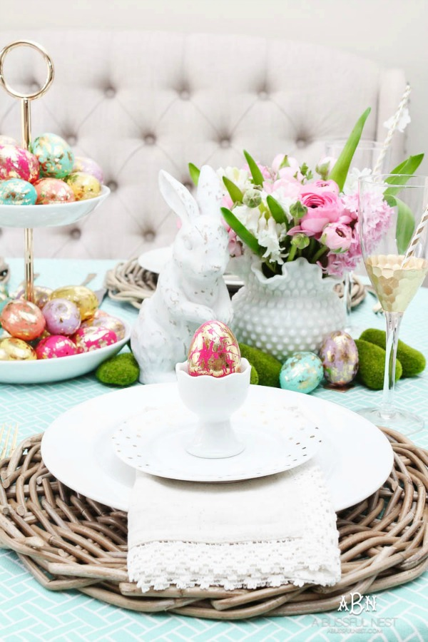 A Blissful Nest, Easter Decor Inspiration via House of Hargrove