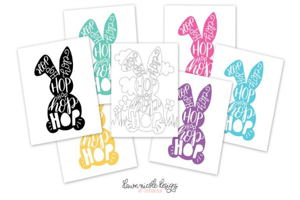 By Dawn Nicole, Easter Decor Inspiration via House of Hargrove