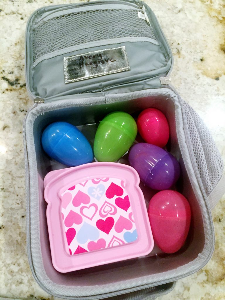 Make an Easter Egg lunch for your kiddos.  Quick and easy and kids love it!