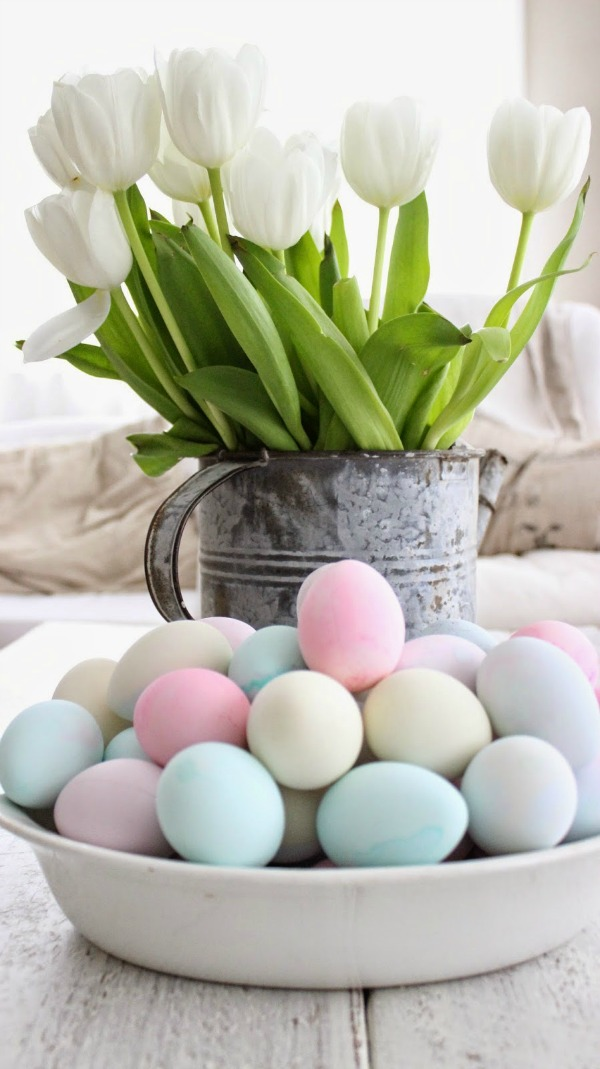 My Rustic Farmhouse, Easter Decor Inspiration via House of Hargrove