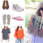 Wear it with Barrett: Spring Tops, Flip Flops & Cute Clutches