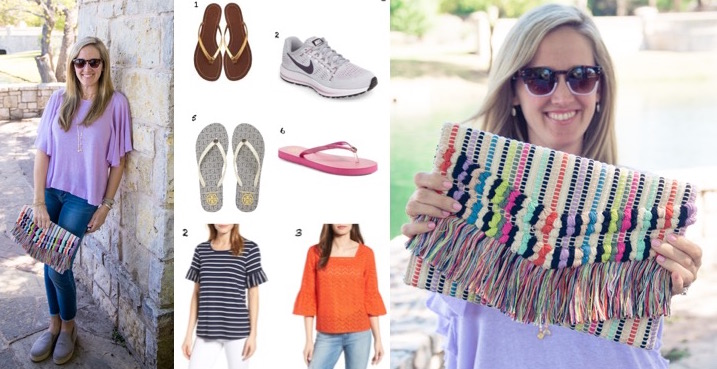 Wear it with Barrett: Spring Tops, Flip Flops & Cute Clutches