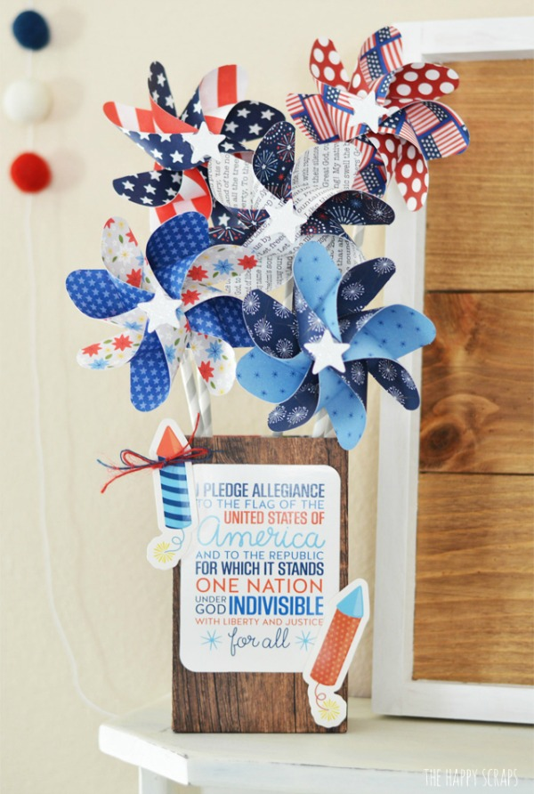 The Happy Scraps, Come check out our Red White Blue Inspiration Post!