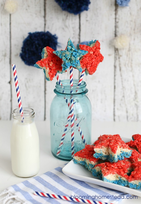 Blooming Homestead, Come check out our red white blue inspiration post!