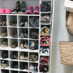 Shoe Storage: Custom built-in look for less than $100