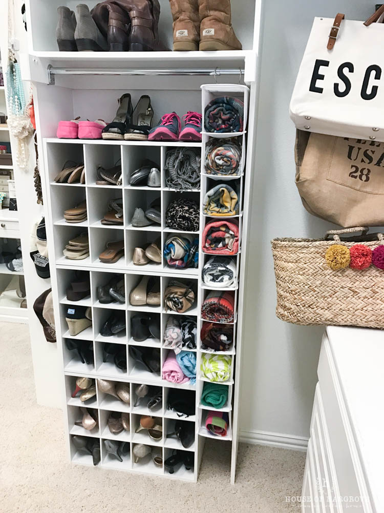 shoe storage custom built in look for less than 100 house of hargrove. Black Bedroom Furniture Sets. Home Design Ideas